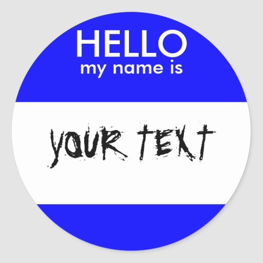 HOLA mi nombre es (el AZUL) Pegatina