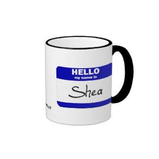 Hola mi nombre es el mandingo azul tazas de café