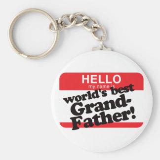 Hola mi nombre es el mejor abuelo del mundo llavero personalizado