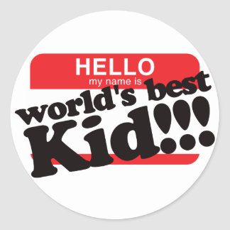 Hola mi nombre es el mejor niño del mundo pegatina redonda