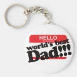 Hola mi nombre es el mejor papá del mundo llaveros