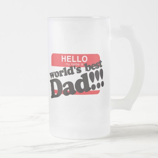 Hola mi nombre es el mejor papá del mundo taza de café
