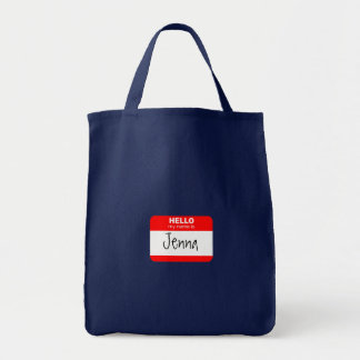 Hola, mi nombre es… (el rojo) bolsa tela para la compra