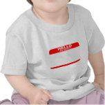 Hola mi nombre es EN BLANCO Camisetas