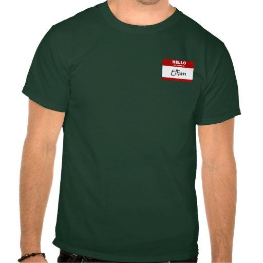 Hola mi nombre es Ethan (rojo) Camiseta