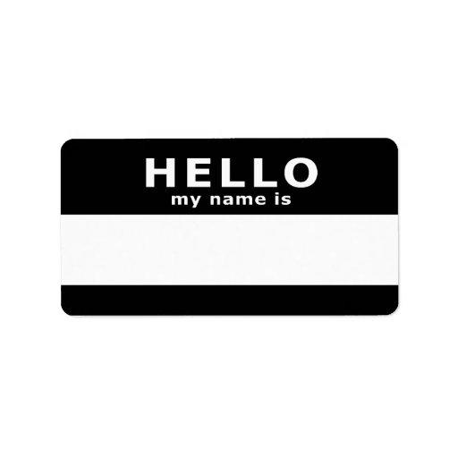 hola mi nombre es: etiqueta de dirección