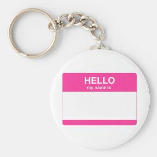Hola mi nombre es etiqueta llavero personalizado
