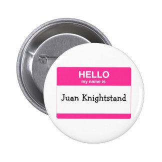 Hola, mi nombre es etiqueta pin redondo de 2 pulgadas