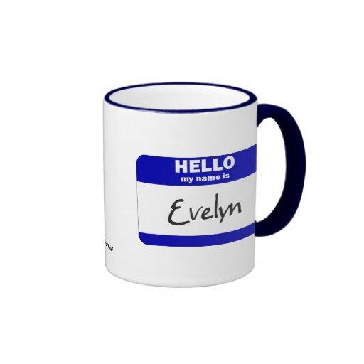 Hola mi nombre es Evelyn (azul) Tazas