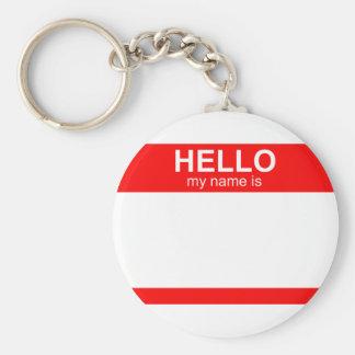 Hola mi nombre es flexible llavero personalizado