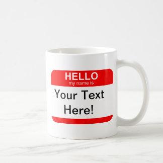Hola mi nombre es flexible taza básica blanca