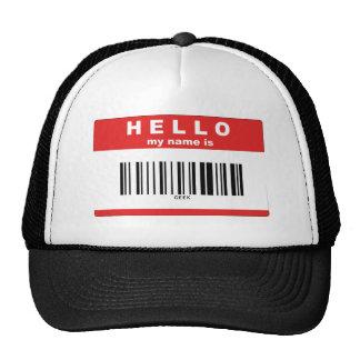 Hola mi nombre es friki (el código de barras) gorras