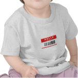 Hola mi nombre es friki (el código de barras) camiseta