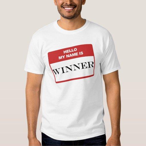Hola mi nombre es ganador playeras