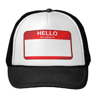 Hola mi nombre es… gorras de camionero
