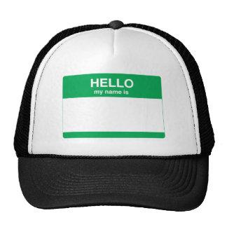 Hola, mi nombre es gorras