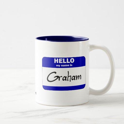 Hola mi nombre es Graham (azul) Tazas