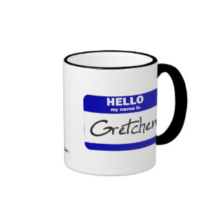 Hola mi nombre es Gretchen azul Taza De Café