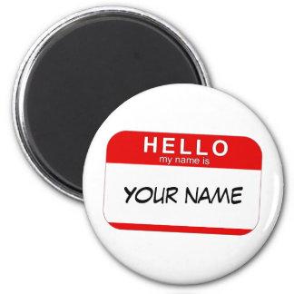 Hola mi nombre es imán