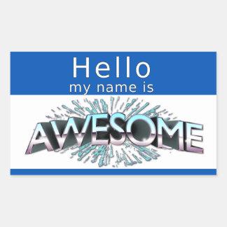 Hola mi nombre es impresionante rectangular altavoz