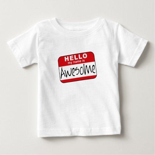 Hola, mi nombre es impresionante playera de bebé