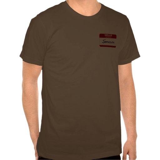 Hola mi nombre es Jameson (rojo) Tshirt