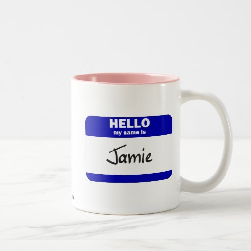 Hola mi nombre es Jamie (azul) Tazas