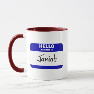 Hola mi nombre es Janiah (azul) Taza