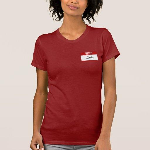 Hola mi nombre es Jayla (rojo) Camiseta