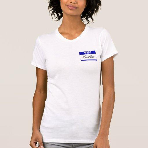 Hola mi nombre es Jennifer (azul) Tee Shirts