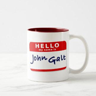 Hola mi nombre es Juan Galt Taza De Dos Tonos