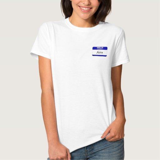 Hola mi nombre es Keira (azul) Tee Shirts
