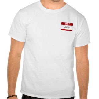Hola mi nombre es Kelvin (rojo) Camiseta