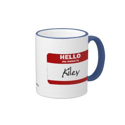 Hola mi nombre es Kiley (rojo) Taza