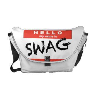 Hola mi nombre es la bolsa de mensajero del SWAG Bolsas De Mensajeria