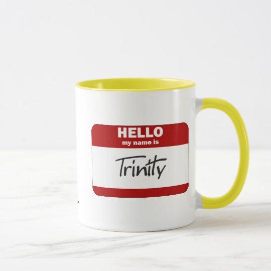 Hola mi nombre es la trinidad (roja) taza