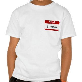 Hola mi nombre es Landon (rojo) Camisetas