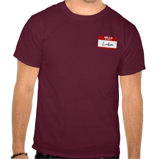 Hola mi nombre es Lukas (rojo) Camisetas