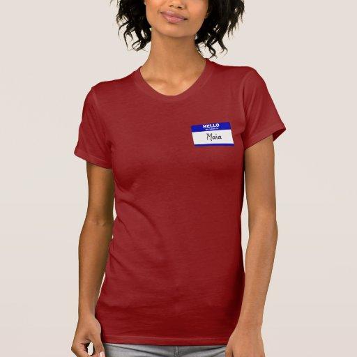 Hola mi nombre es Maia (azul) Camisetas