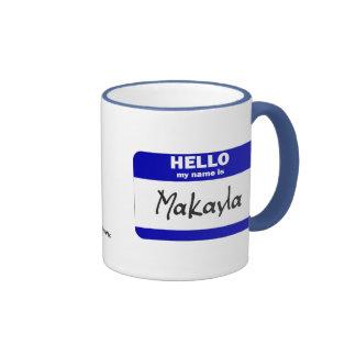 Hola mi nombre es Makayla (azul) Taza De Café