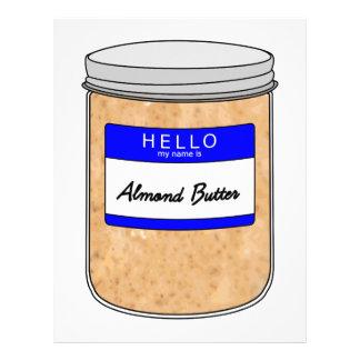 Hola mi nombre es mantequilla de la almendra plantillas de membrete