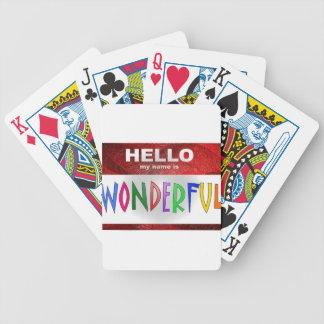 Hola mi nombre es maravilloso cartas de juego