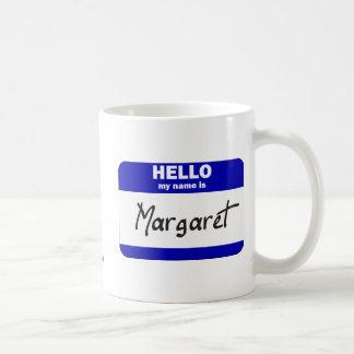 Hola mi nombre es Margaret (azul) Taza De Café