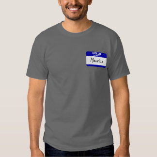 Hola mi nombre es Mauricio (azul) Poleras