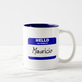 Hola mi nombre es Mauricio azul Tazas