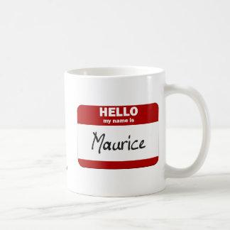 Hola mi nombre es Mauricio (rojo) Taza Clásica