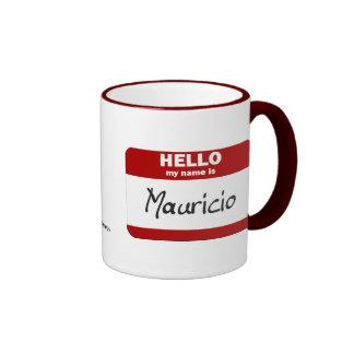 Hola mi nombre es Mauricio (rojo) Taza De Dos Colores