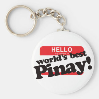 Hola mi nombre es mejor Pinay del mundo Llavero