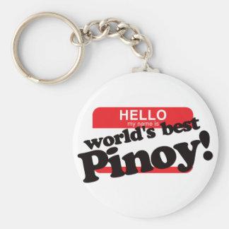 Hola mi nombre es mejor Pinoy del mundo Llaveros