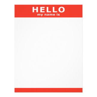 hola mi nombre es… membrete personalizado